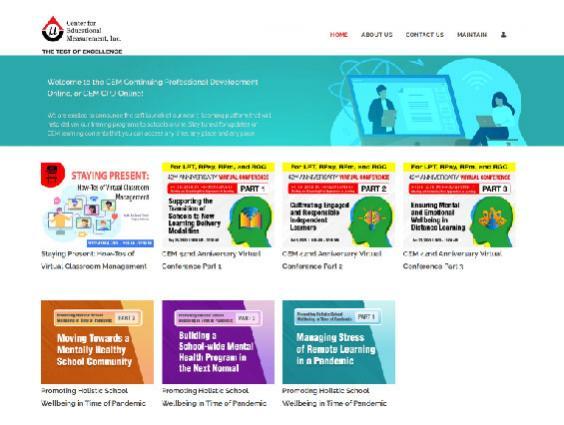 CEM CPD Online - https://www.cem-cpd.com.ph/