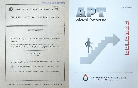 Philippine Aptitude Test for Teachers (PATT) and Advanced Placement Test (APT)