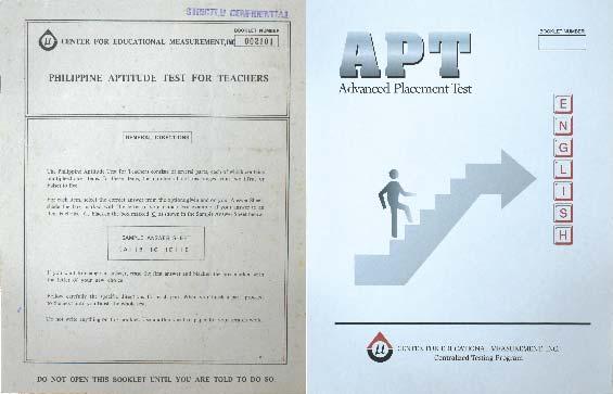 Philippine Aptitude Test for Teachers (PATT) and Advanced Placement Test (APT)