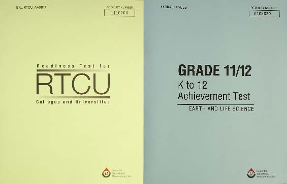 Readiness Test For Colleges and Universities (RTCU) and the Senior High School Achievement Tests (SHSAT)