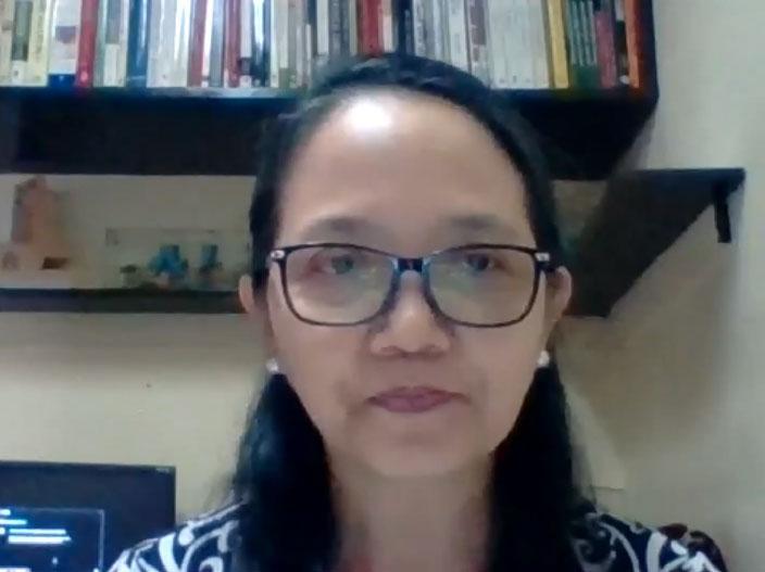 Resource speaker Ms. Ma. Gloria Alda Sumbingco