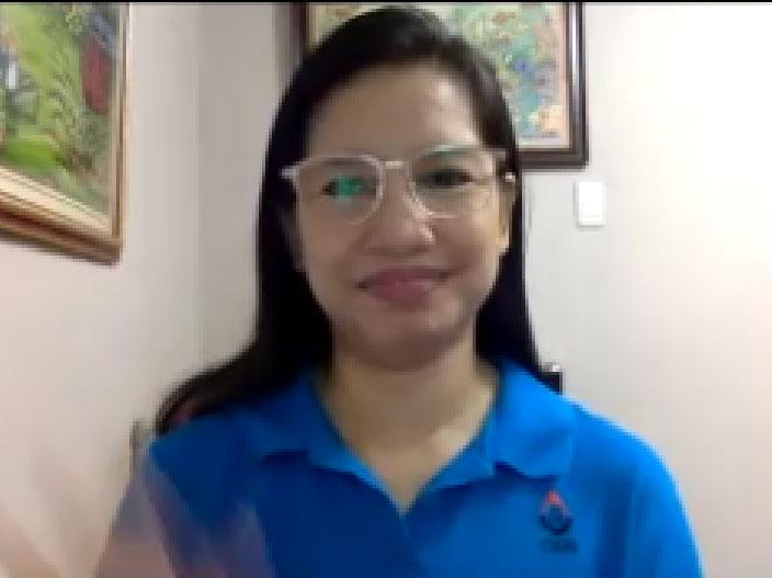 Resource speaker Ms. Imelda Tabrilla