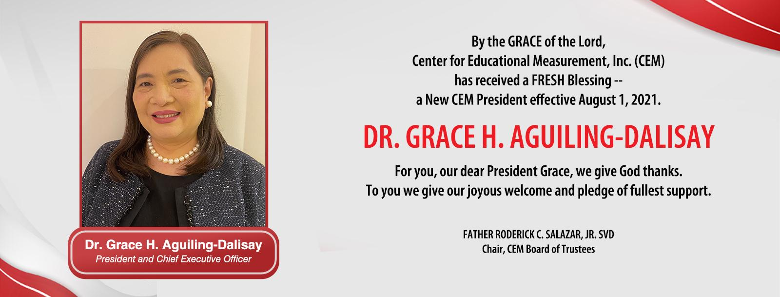 Dr. Grace H. Aguiling-Dalisay - New CEM President & CEO
