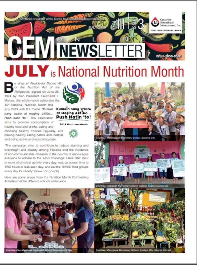 CEM Online Newsletter, Vol. III, Issue 3 (July 2019)