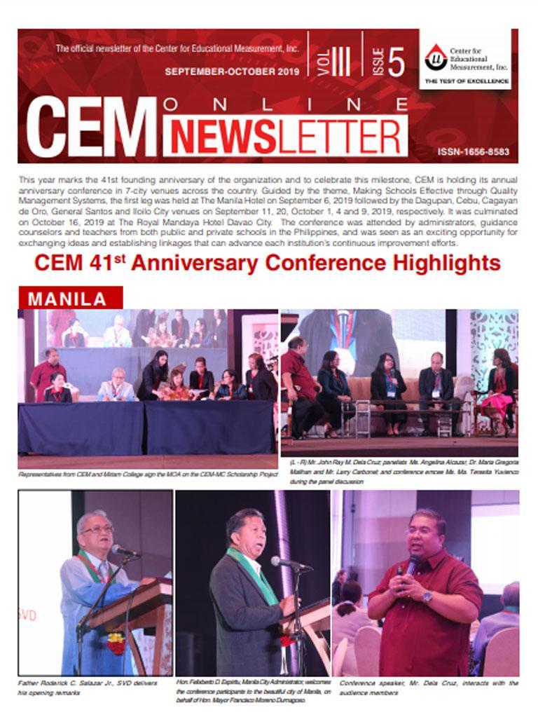 CEM Online Newsletter, Vol. III, Issue 5 (September-October 2019)