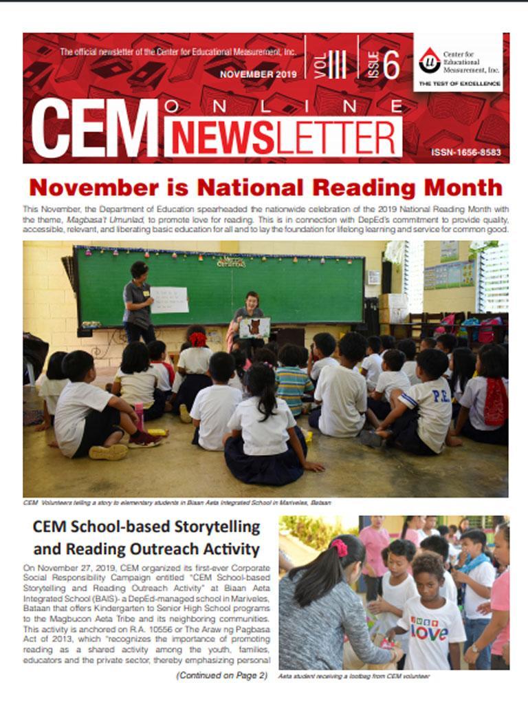 CEM Online Newsletter, Vol. III, Issue 6 (November 2019)