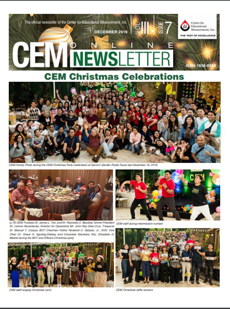 CEM Online Newsletter, Vol. III, Issue 7 (December 2019)