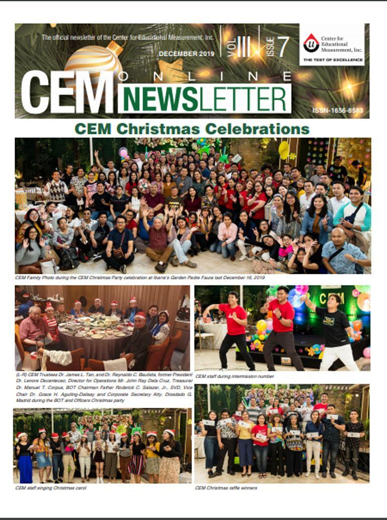 CEM Online Newsletter, Vol. III, Issue 7 (December 2019)