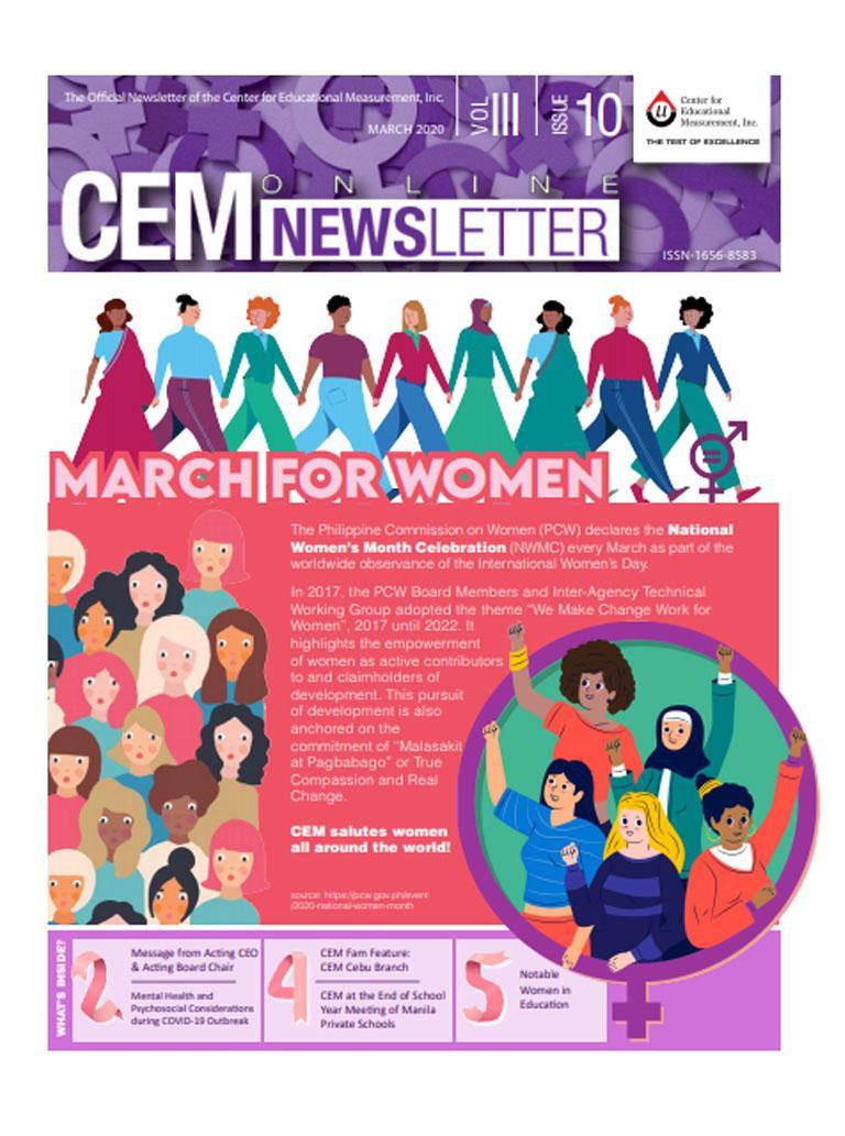 CEM Online Newsletter, Vol. III, Issue 10 (March 2020)