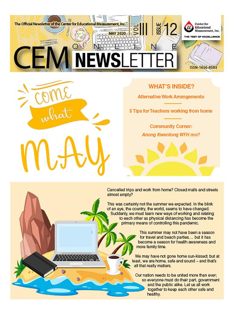 CEM Online Newsletter, Vol. III, Issue 12 (May 2020)