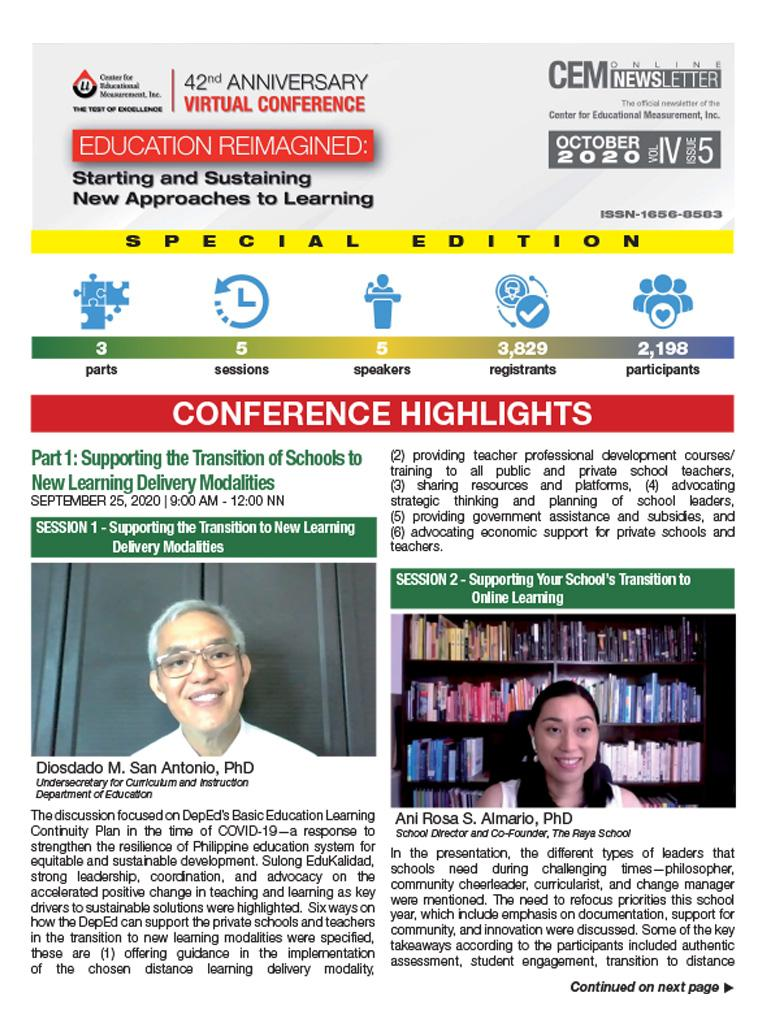 CEM Online Newsletter Vol. IV, Issue 05