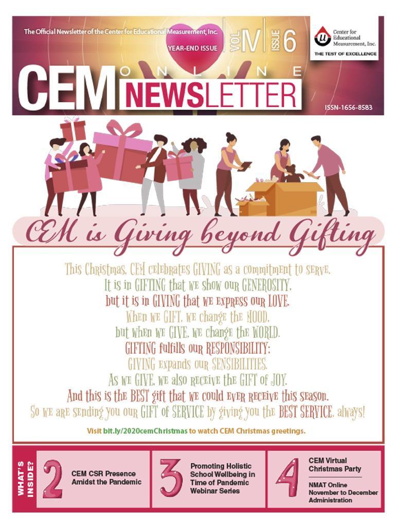 CEM Online Newsletter Vol. IV, Issue 06