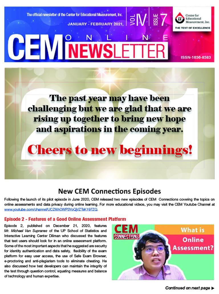 CEM Online Newsletter Vol. IV, Issue 07