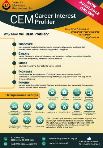 CEM Career Interest Profiler (CEM Profiler)