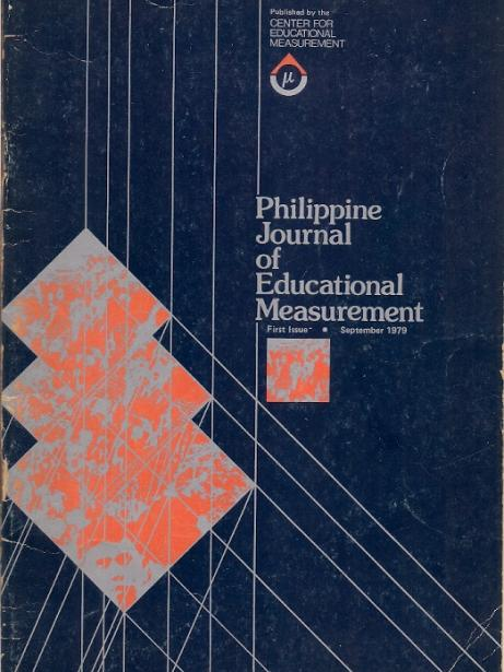 Philippine Journal of Educational Measurement Vol.1 No.1 1979