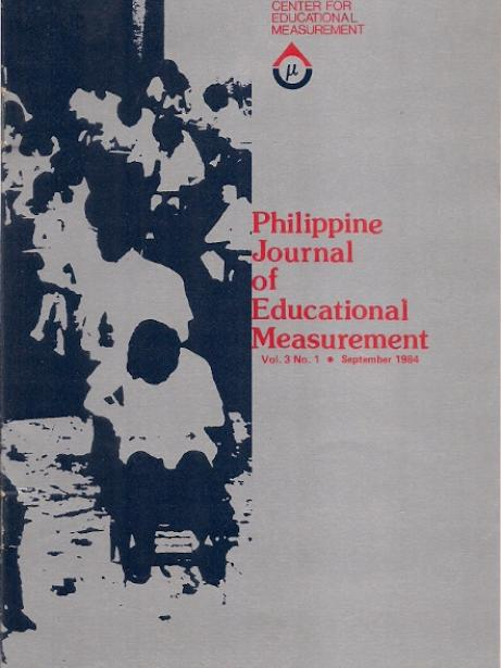 Philippine Journal of Educational Measurement Vol.3 No.1 1984