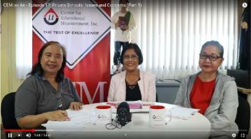 CEM on Air - Episode 17: Private Schools: Issues and Concerns (Part 1)
